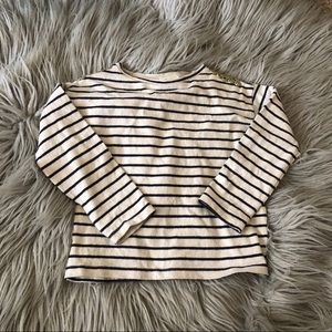 Zara girls striped long sleeve top